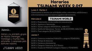 HORARIOS TSUNAMI WORL