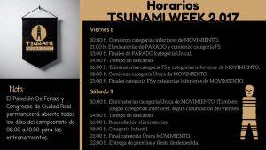 HORARIOS TSUNAMI WORLD VIERNES Y SABADO