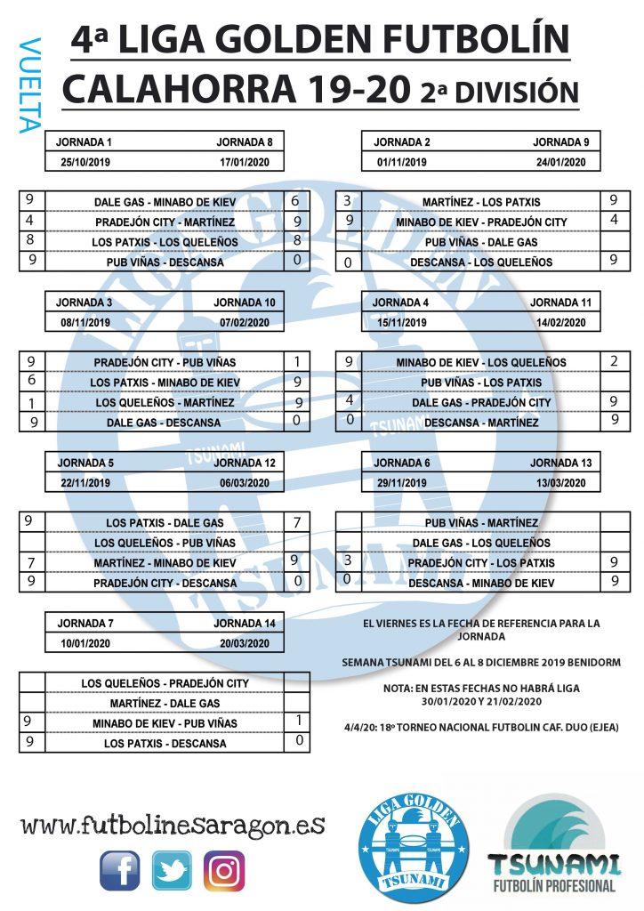 Calendario-Liga-CALAHORRA-2-DIVISION VUELTA MODI-19-20