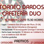 Cartel Campeonato Dardos Dúo 16-2-2019